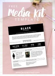 25 unique media kit template ideas on pinterest media kit