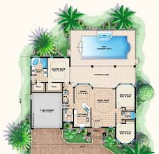 3 Bedroom Floor Plans With Garage Florida Style House Plans 1786 Square Foot Home 1 Story 3