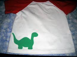 what i live for no sew dinosaur applique