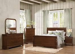 homelegance abbeville sleigh bedroom set brown cherry b1856 1