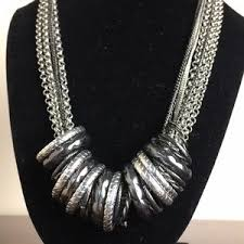 fashion jewelry silver necklace images Fashion jewelry jewelry silver tone 8 chain ring statement jpg