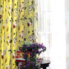 Yellow And Purple Curtains Vintage Style Curtains For Sale Retro Curtains