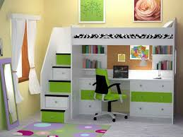 Childrens Bunk Bed With Desk Fantastic Bunk Beds With Desk And Tidy Bookshelves Inside Stylish