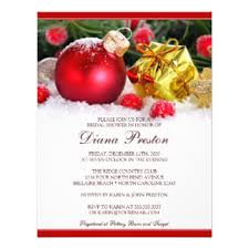 christmas bridal shower invitations u0026 announcements zazzle