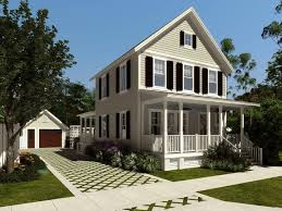 architecture simple plan house design with big tree at the back
