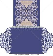 paper cut out card laser cut stock vector 411390478