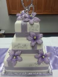 wedding cake lavender lavender and silver wedding cake with sugar hibiscus flowers