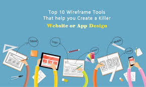 blog wireframe tools for website or mobile app prototype design