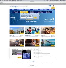 united airlines website re design on behance