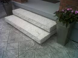 light grey stamped concrete porch google search driveway ideas