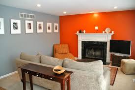 grey and orange living room ideas home design ideas