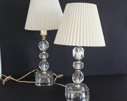 clear glass lamp etsy