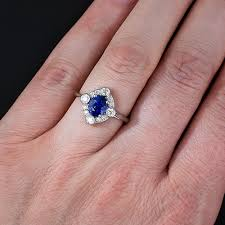 natural sapphire rings images Blue sapphire ring in 14k white gold from gemone diamonds online jpg