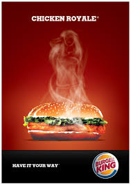 burger king ad of course the steam has to form a female body