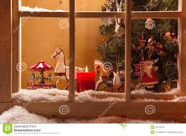 Christmas Window Decorations by Atmospheric Christmas Window Sill Decoration Snow Tre E Candle R