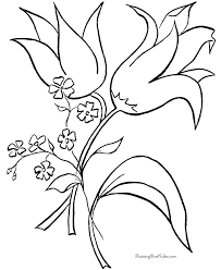 coloring pictures of flowers to print color book flowers kids coloring