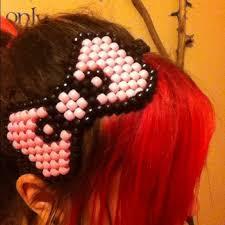 hello headband pink and black hello kandi bow headband os from s