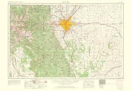 topographical map denver colorado 1966