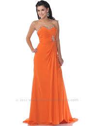 orange strapless prom dresses long dresses online