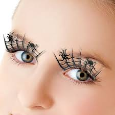 1pair paper cut spider false 3d lashes beauty cosplay fake