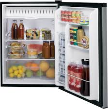 Stainless Steel Mini Fridge With Glass Door by Ge Gce06gshsb 24 Inch Built In Capable Compact Refrigerator With