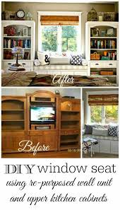 off the shelf kitchen cabinets repurposed wall unit take two shelves window and repurposed