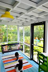 the ceiling of this screen porch could be made to be