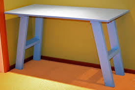 white simple desk ana white simple blue desk diy projects