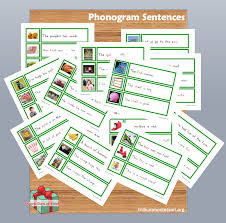 free montessori printable phonogram sentences montessori