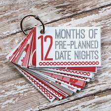 Months of Pre Planned Date Nights Gift  amp  Free Printable     the     The Thinking Closet