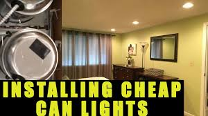 Ceiling Can Lights How To Install U0026 Wire Can Lights Recessed Lights Youtube