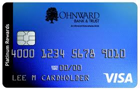 Visa Business Card Credit Card Ohnward Bank U0026 Trust