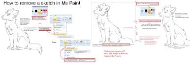 how to remove a sketch in mspaint by kainaa on deviantart