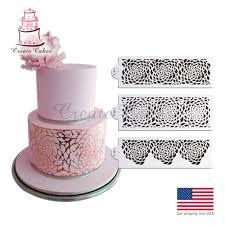 Wedding Cake Decorating Stencils Quot h w daisy lattice cake