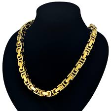 byzantine chain necklace images 22 quot 26 quot 28 quot men byzantine chain gold color mens thick gold chain jpg