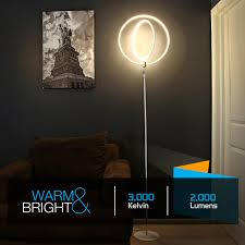 Led Floor Lamp Brightech Store Eclipse Led Floor Lamp U2013 Rings Of Light Bring