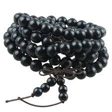 black prayer bracelet images Sunyik 8mm black ebony wood 108 tibetan buddhist prayer mala beads jpg