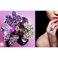 butterfly crystal rings images Crystal butterfly ring jpg