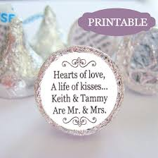 Wedding Quotes Kiss Printable Mr And Mrs Kisses Stickers Labels Diy Kiss Wedding