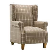Tartan Armchairs Restmore Stripe Duck Egg Blue Chair