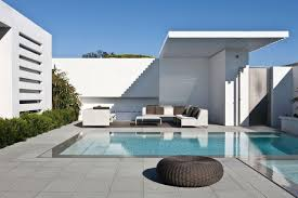 flooring bluestone pavers in moden home design with pool and