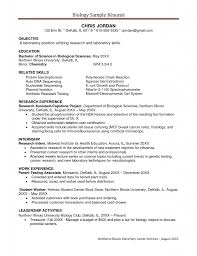 Sample Resume For Microbiologist by Sample Biology Resume Free Resume Example And Writing Download