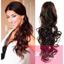 ponytail hair extensions clip in ponytail wrap braid hair extension 24 curly brown