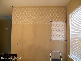 how to stencil a wall home interiror and exteriro design home