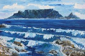 Table Top Mountain by Check Out This Beach Paintings Amazing Texture On This Seascape