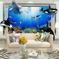 Aliexpresscom  Buy Home Office Decor Wall Papers  D Dolphin - Kids room wall murals