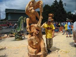 large wood carvings us open chainsaw sculpture chionships wisconsin wood carving