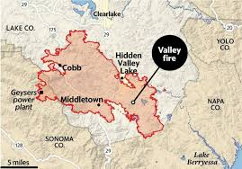 Wildfire Map Valley Fire by Faulty Tub Wire Caused Devastating Valley Fire Cal Fire Says