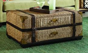 Wicker Storage Ottoman with Coffee Table Wicker Coffee Tables Round Ottoman Table Wicker