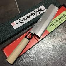 japanese kitchen knife vg10 nashiji nakiri 165mm tanaka knive